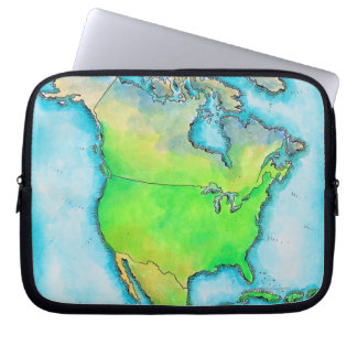 Map of North America Laptop Sleeve