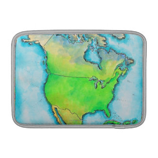 Map of North America MacBook Sleeve