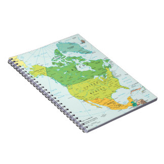 Map of North-America Notebook