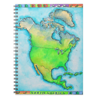Map of North America Notebook