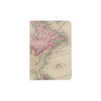 Map Of North America Passport Holder