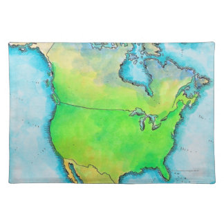 Map of North America Placemat