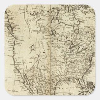Map of North America Square Sticker