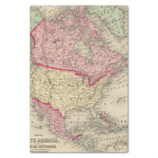 Map Of North America Tissue Paper
