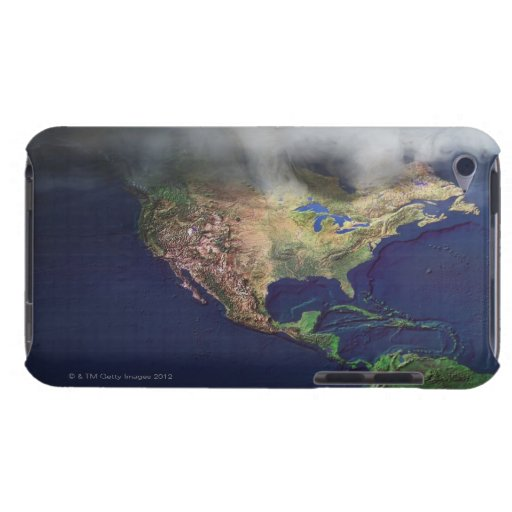 Map of North America with fog Barely There iPod Cover