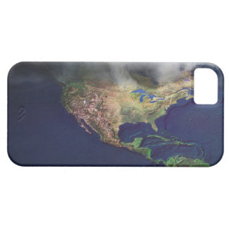 Map of North America with fog iPhone 5 Cover