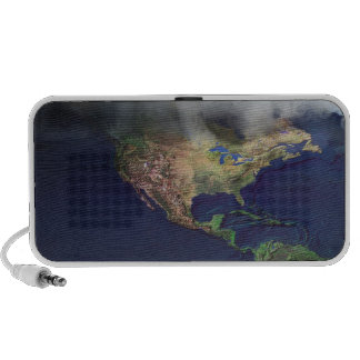 Map of North America with fog Mp3 Speakers