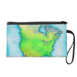 Map of North America Wristlet