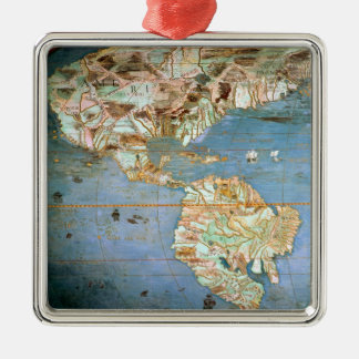 Map of North and South America Christmas Ornament