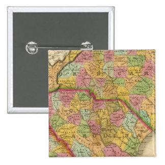 Map Of North and South Carolina And Georgia 15 Cm Square Badge