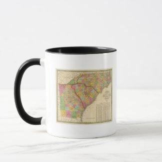 Map Of North and South Carolina And Georgia Mug