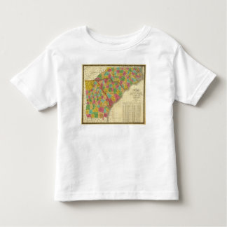 Map of North and South Carolina, and Georgia Toddler T-Shirt