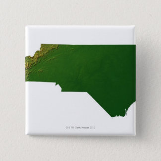 Map of North Carolina 15 Cm Square Badge