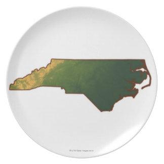 Map of North Carolina 2 Plate