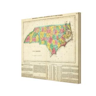 Map Of North Carolina Canvas Print