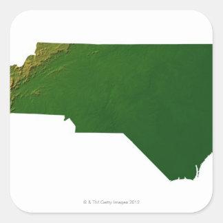 Map of North Carolina Square Sticker