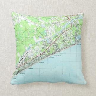 Map of North Myrtle Beach South Carolina (1990) Cushion