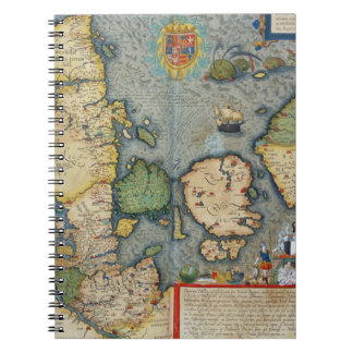 Map of Northern Europe, from 'Civitates Orbis Terr Notebooks