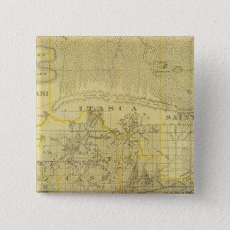 Map of Northern Minnesota, 1874 15 Cm Square Badge