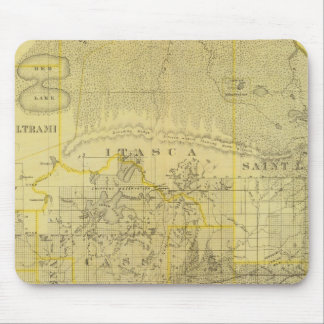 Map of Northern Minnesota, 1874 Mouse Mat
