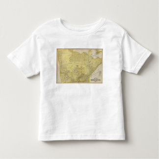 Map of Northern Minnesota, 1874 Toddler T-Shirt