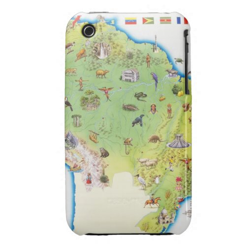 Map of Northern South America Case-Mate iPhone 3 Cases