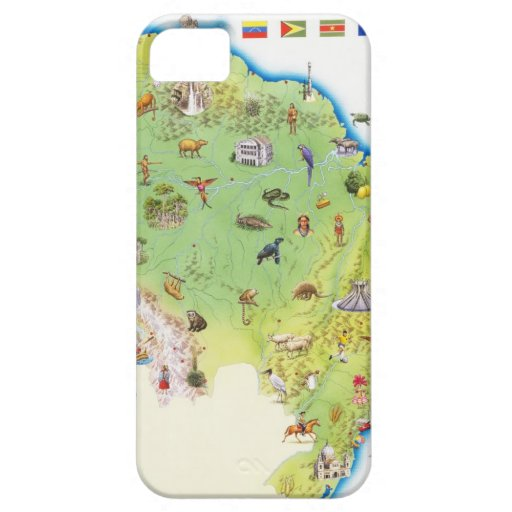Map of Northern South America iPhone 5 Covers