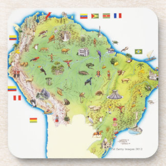 Map of Northern South America Coaster