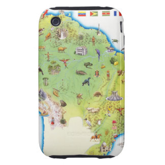 Map of Northern South America iPhone 3 Tough Case