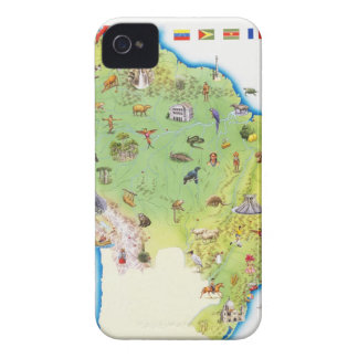 Map of Northern South America iPhone 4 Cases