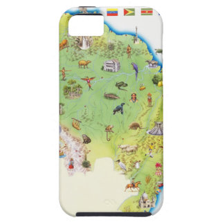 Map of Northern South America iPhone 5 Cases