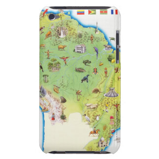 Map of Northern South America iPod Touch Case