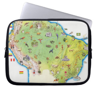 Map of Northern South America Laptop Computer Sleeves