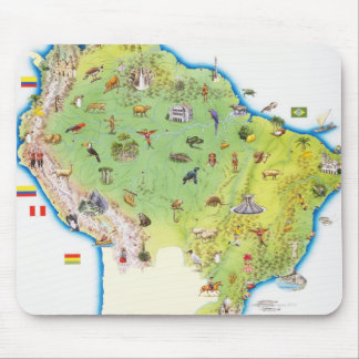 Map of Northern South America Mouse Mat