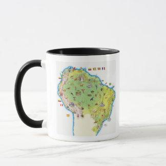 Map of Northern South America Mug