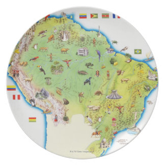 Map of Northern South America Plate
