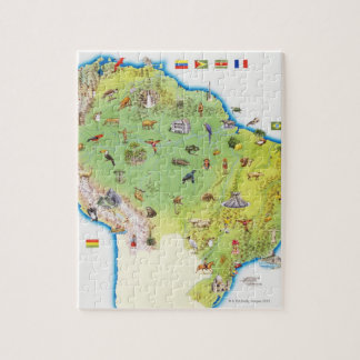 Map of Northern South America Puzzle