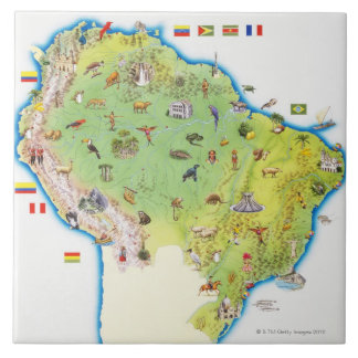 Map of Northern South America Tile