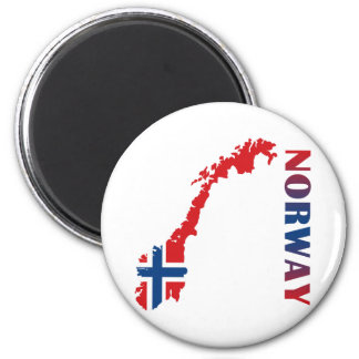 Map Of Norway 6 Cm Round Magnet