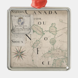 Map of Nouvelle-France  1699 Christmas Ornament