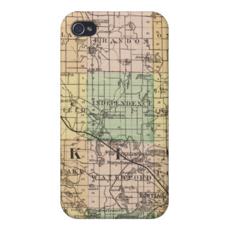 Map of Oakland County, Michigan Case For iPhone 4
