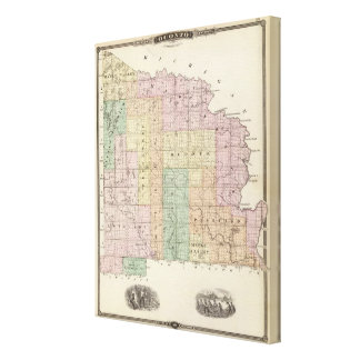 Map of Oconto County northern part Canvas Print