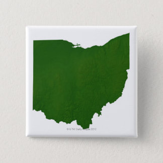 Map of Ohio 15 Cm Square Badge