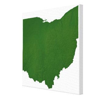 Map of Ohio 2 Canvas Print