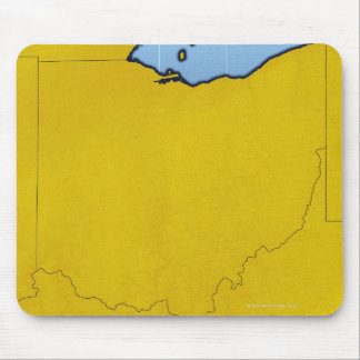 Map of Ohio 2 Mouse Mat