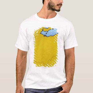 Map of Ohio 2 T-Shirt
