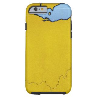 Map of Ohio 2 Tough iPhone 6 Case