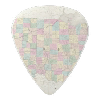 Map of Ohio And Indiana Acetal Guitar Pick