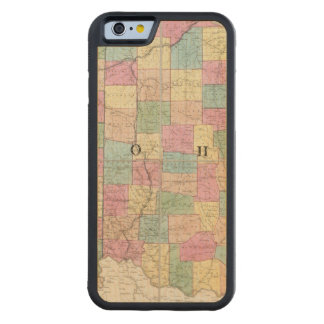 Map of Ohio And Indiana Carved Maple iPhone 6 Bumper Case