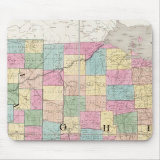 Map of Ohio And Indiana Mouse Mat
